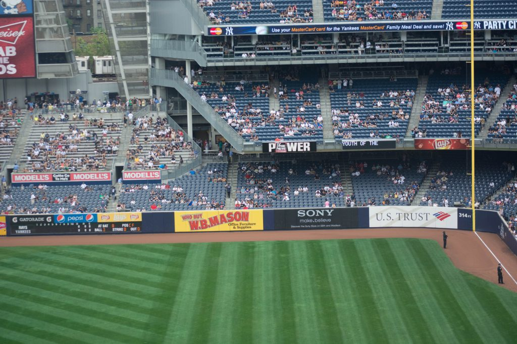 Right Field Sections at Yankee Stadium ideal for catching Homeruns