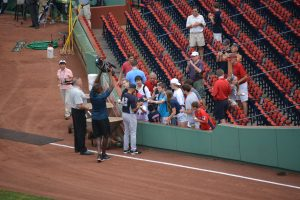 Best Seats for getting autographs at Fenway Park