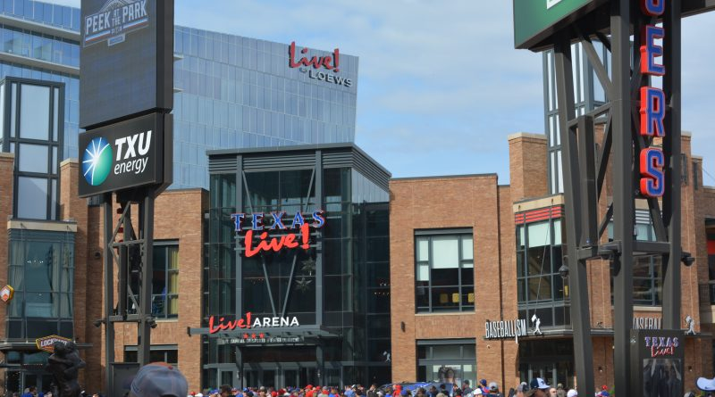 Live! by Loews is the closest hotel to Globe Life Field, Texas Rangers stadium