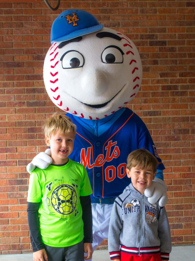 Mr Met is around the best seats for families at Citi Field