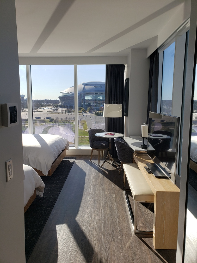 Live by Loews is the closest hotel to Globe Life Field and AT&T Stadium