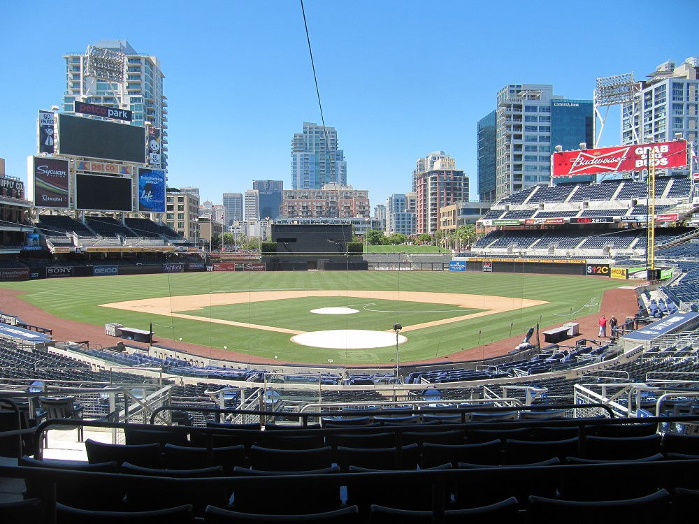 Petco Park Premier Club offers a great view of the game and surrounding neighborhood in San Diego