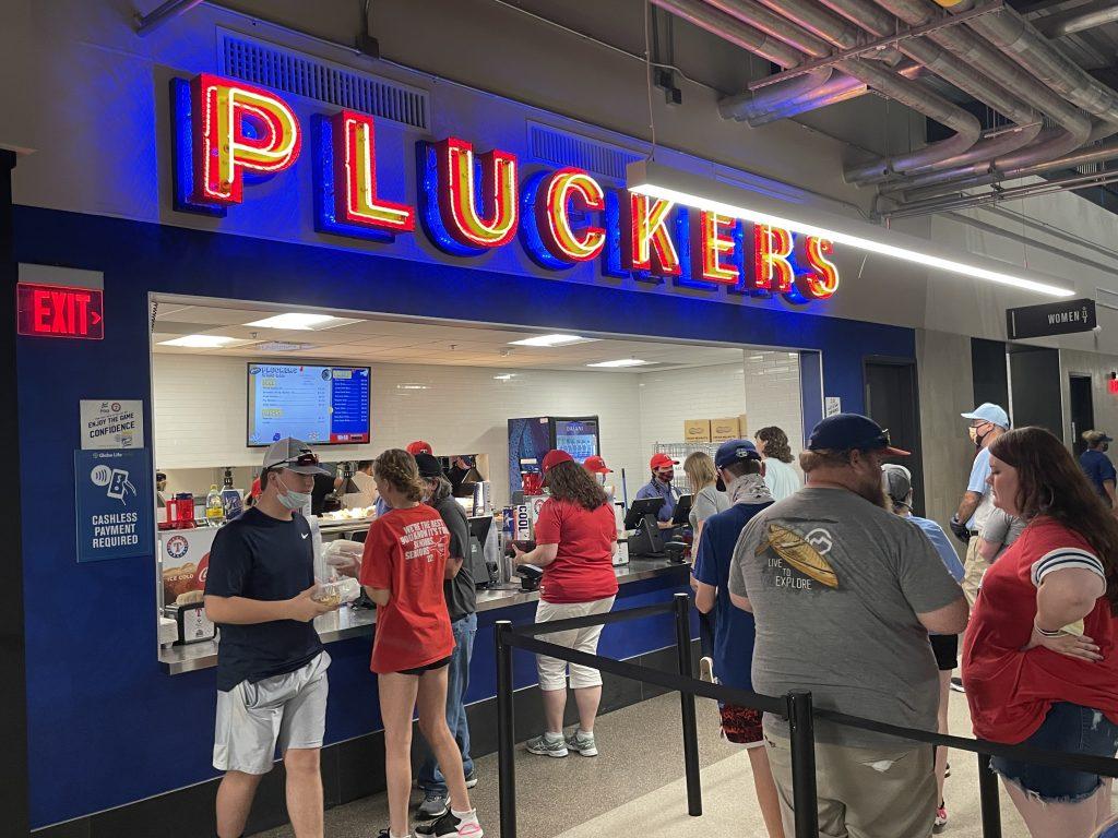 Food at Texas Rangers new ballpark - Pluckers Wing Bar