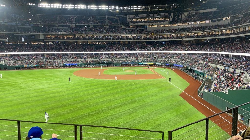 Globe Life Field seat view from Section 140