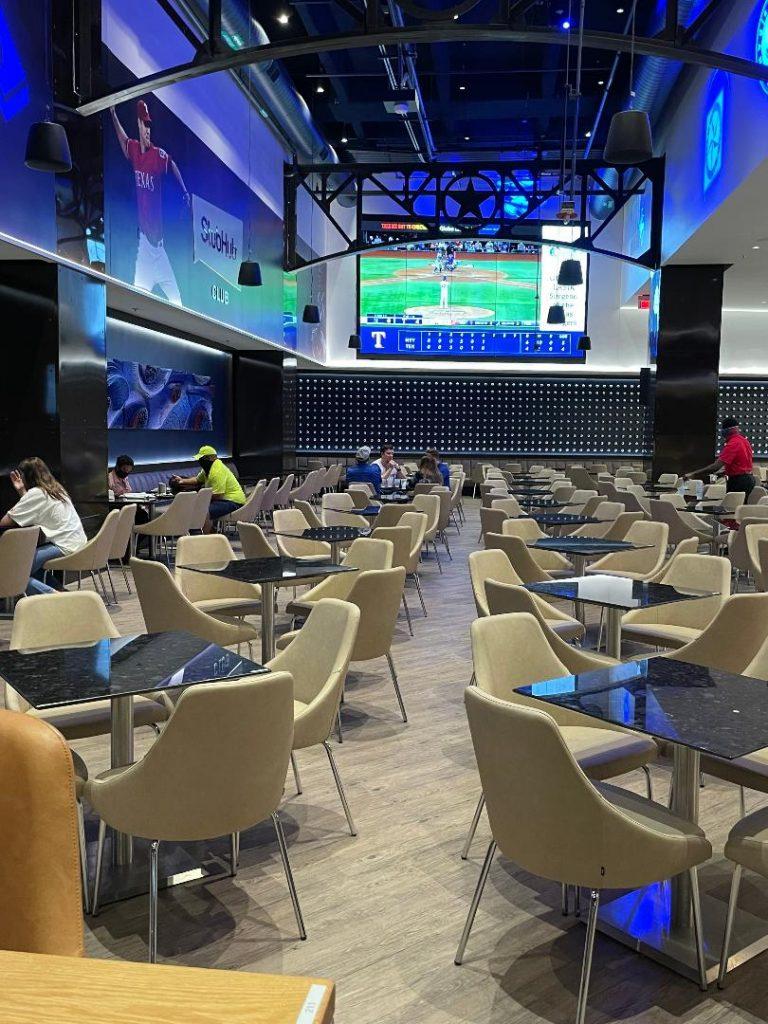 View inside StubHub Club at Globe Life Field