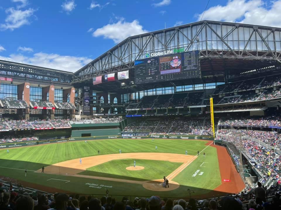 Rangers Ballpark best view